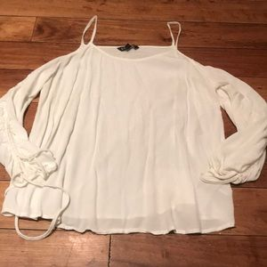 Express Lrg shoulder cut out blouse